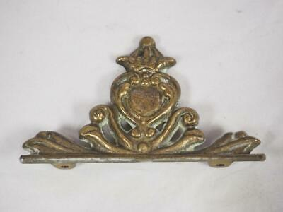 Dutch Wall Clock Pediment Brass Carved Central Finial For Wall Clock
