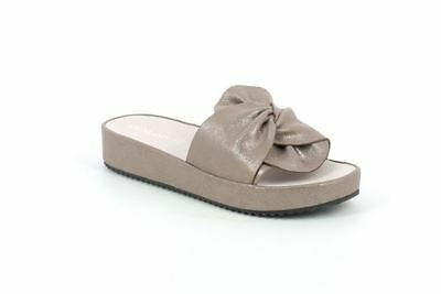 Grunland Slipper Kati CI1288 with Taupe with Plantar Leather