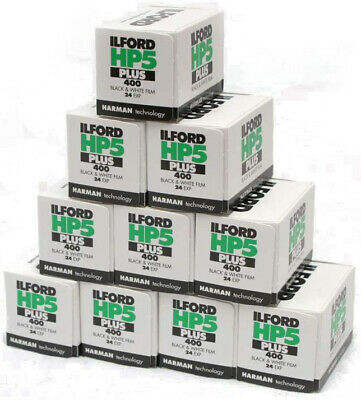 Ilford HP5 Plus 35mm 135/36 400 ASA Black & White B&W Film 10 Rolls Exp 10- 2023