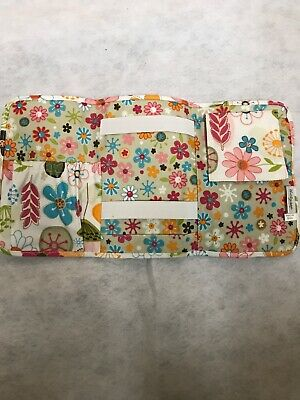 Thirty-One 31 Fold & Go Tri Fold Organizer Notebook Holder Colorful  Floral