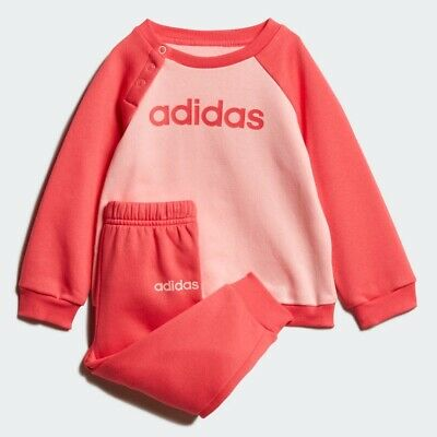 Adidas Girls Linear Jogger Set Age 3-4