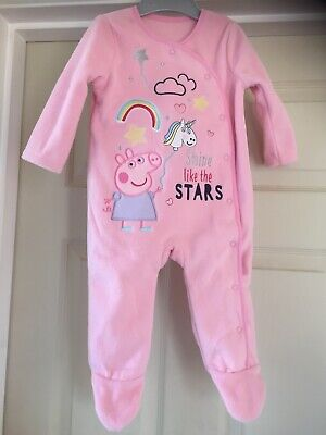 Peppa Pig 6-9 Month Girls Snuggly All In One BNWT