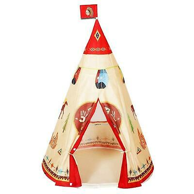 Childrens Kids TeePee Play Tent Indoor Wigwam Red Indian Playhouse Outdoor Camp