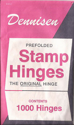 Y  3 Packs of Dennisen brand folded stamp hinges -1000 per package-new-FREE SHIP