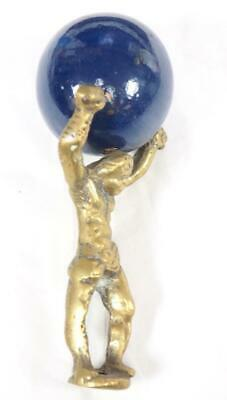 Dutch Wall Clock Finial  Brass World holding Centre Finial Figure
