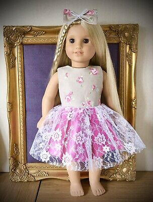 American Girl Our Generation New Pink Rose Dress 18 Inch Doll Clothes
