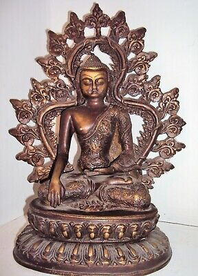 Stunning And Rare Large Ayutthaya Seated Bronze Buddha Statue, Antique.