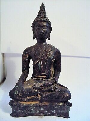 Attractive S.e.asian Large Bronze Seated Khmer  Statue, Buddha, Angkor Wat