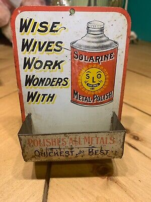 Wise Wives Work Wonders With Solarine Metal Polish Vintage Advertising Matchbox