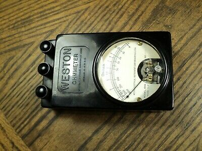 "Vintage Weston Ohmmeter No. 689 type 1-F  -  5"" Long   USA     Parts or Repair"
