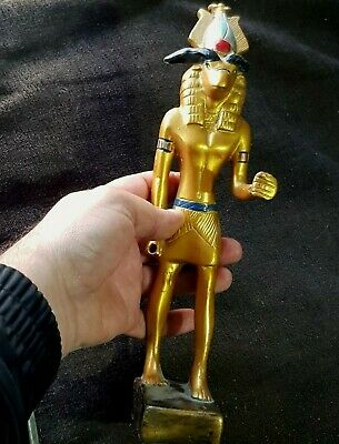 Stunning Very Rare Undated Large Gold Gilted Egyptian Shabti 624 Gr 293 Mm