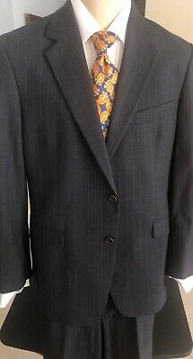 """Brooks Brothers """"346"""" Stretch Mens 2 Button Suit Gray Pinstripe 42R"""
