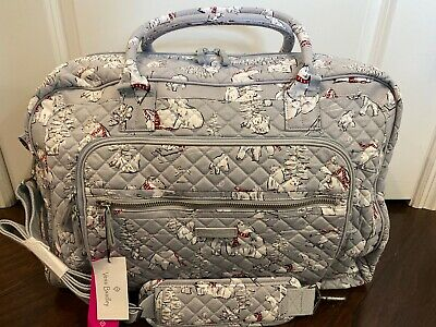 NEW Vera Bradley BEARY MERRY Iconic Weekender Bag - Carry On Travel Luggage Tote