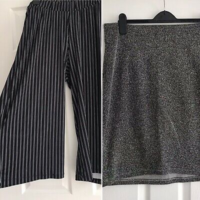 Ladies Maternity Work Wear Bundle - H&M Grey Skirt & ASOS Trousers Size 14