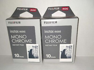 2 -  Fujifilm Instax Mini Monochrome Instant Film 20 Sheets Total Exp 11/2020