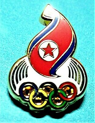 Rare North Korea Noc Tokyo 2020 Olympic Games Collector Pin Japanese Japan Media