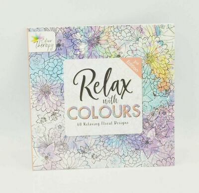 A4 Adult Anti-Stress Floral Colouring Book Therapy Stress Relief Drawing