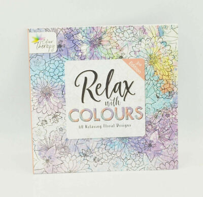 Adult Anti-Stress Floral Colouring Book Flower Therapy Stress Relief Drawing