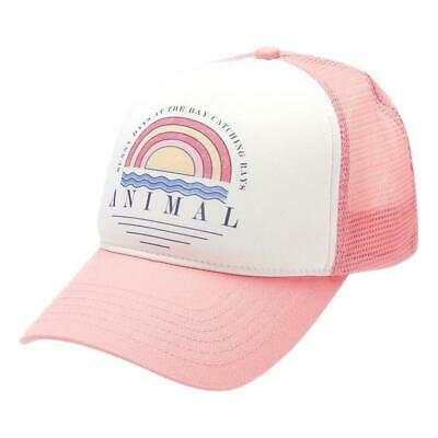 Animal NEW Girls Kailey Cap - Strawberry Pink BNWT