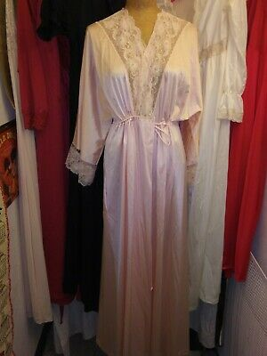 Vintage Lot of 9 Peignoirs Nightowns Robes Nylon & Lace Pink White Red Black M