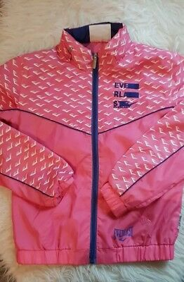 GIRLS sport Everlast PINK RAIN COAT tracksuit jacket 9-10 YEARS design next day