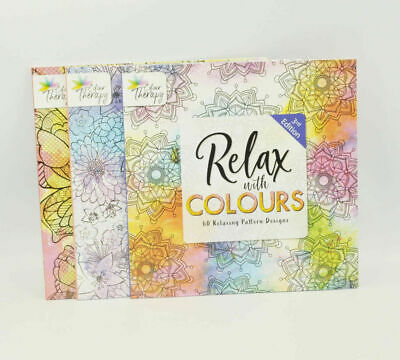 1x Adult Anti-Stress Colouring Book Therapy Activity Stress Relief Drawing Books