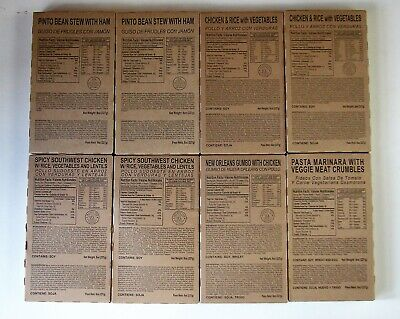 Lot 8 Fresh MRE entrees, Meals Ready to Eat, Best by 2022, Free Shipping!