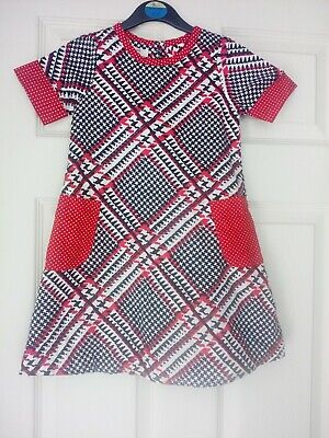 Girls Dress Pinguette Age 5 Years Red/Black