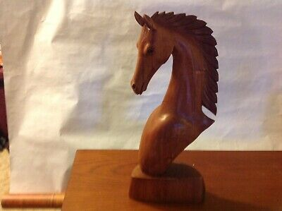 Hand Carved Horse Head 19""