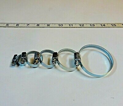 Hose Clips, Zinc Plated, Choose size and Quantity