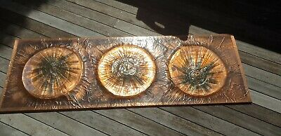 Vintage Copper Wall Art.large Handcrafted Copper Wall Art.retro...