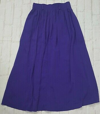 Jara Skirt Womens Size 10 Purple Long Stretch Vintage Pull-on