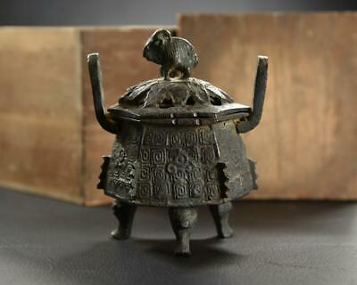 Chinese Old Yuan - Ming Bronze Incense Burner / W 9.8[cm] Qing Water Pot