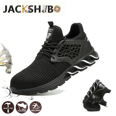 Mens Safety Shoes Work Boots Steel Toe Sneakers Hiking Indestructible Trainers