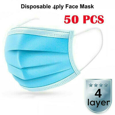 20/100X 4-Ply Face Cover Mouth Cover Anti Dust Anti Haze Protective Filter Lot