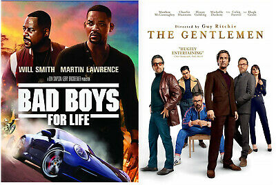 Bad Boys for Life & The Gentlemen (2020) Preorder for 4/21-Set of 2 Great Movies