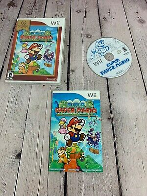 Super Paper Mario Game Complete! Nintendo Wii Refinished Disk No Scratches