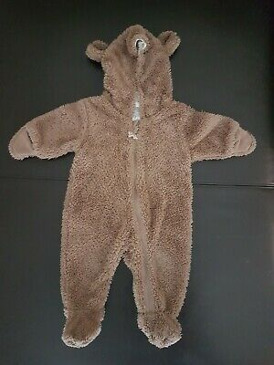 Peter Alexander Baby Bear Suit Brown Size 000 3 to 6 months