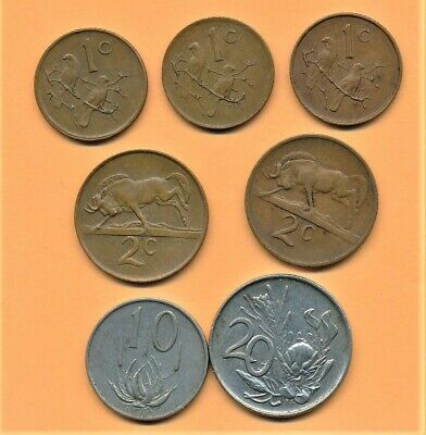 Coin group from South Africa - Set #3 Obsolete Portrait Type set All Different