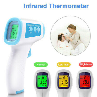 IR Infrared Digital Forehead Fever Thermometer Non-Contact Baby Adult Child Body