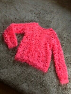 Bnwot Girls River Island Neon Pink Jumper Aged 9-10yrs