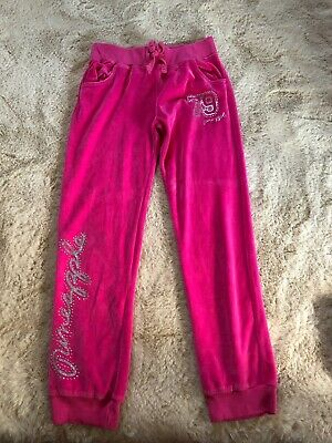 Debenhams Girls Velour Pinapple Tracksuit Bottons Aged 9-10yrs