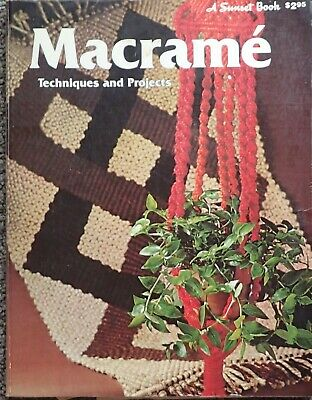 Vintage Sunset Macrame Techniques & Projects Book-Illustrated Knots & Projects