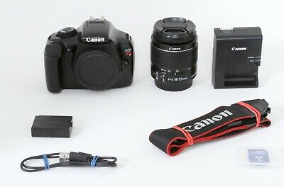 Canon EOS Rebel T3 12.2MP DSLR Camera, Black, EF-S 18-55 IS II, Free Shipping #A