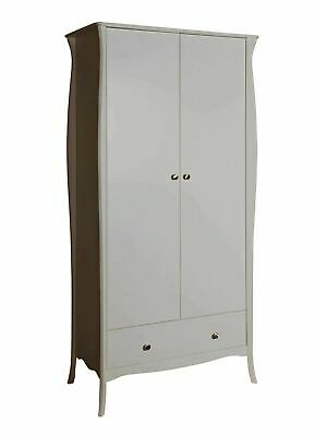 Steens Baroque Style French Louis Grey 2 Door 1 Drawer Wardrobe Furnirure