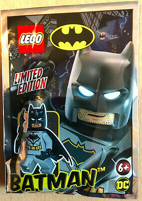 Lego Set Polybag Figurine Minifig Super Heros Dc Comics Batman Version Grise