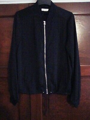 H&M Black Lightweight Zipped Jacket Size 14 -15 Years Old - Selling For Charity