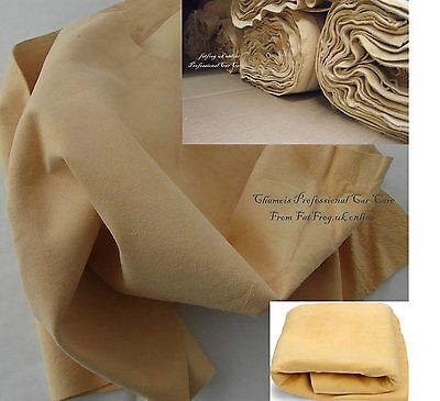 4 sq ft Genuine Chamois Leather Best Quality Car cloth tanned Sheepskin large.