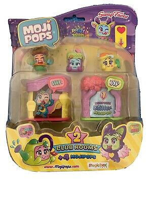 MojiPops Party - Blister Club Room with 4 MojiPops figurines (1 glitter) Style 2
