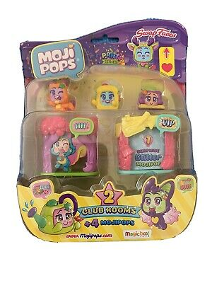 MojiPops Party - Blister Club Room with 4 MojiPops figurines (1 glitter) Style 3